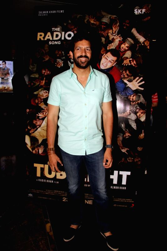 Filmmaker Kabir Khan during the launch of first song of the film Tubelight, 'The Radio Song' in Mumbai on May 12, 2017. - Kabir Khan
