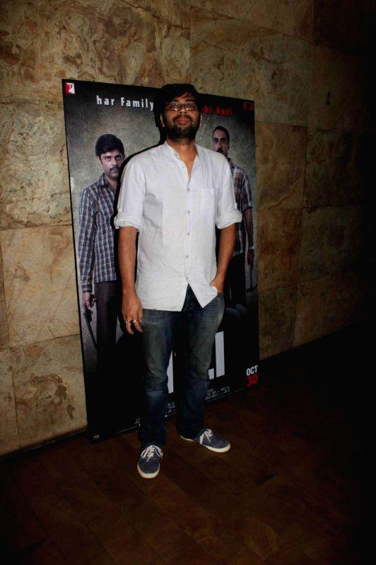 Filmmaker Kanu Behl during a special screening of film Titli in Mumbai, on Oct 28, 2015. - Kanu Behl