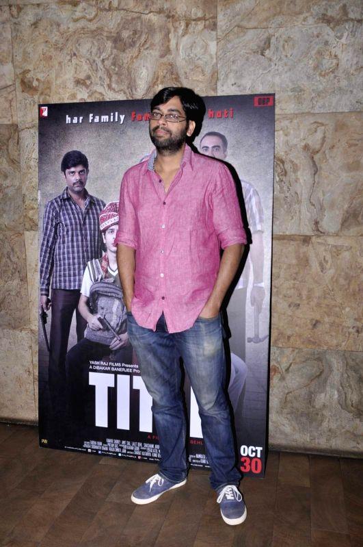 Filmmaker Kanu Behl during the screening of film Titli, in Mumbai, on Oct 27, 2015. - Kanu Behl