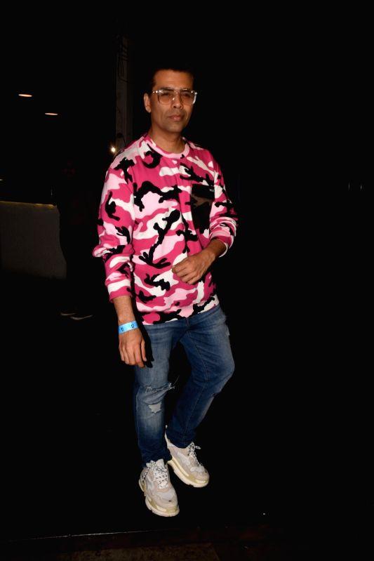 Filmmaker Karan Johar at actress Bhumi Pednekar birthday celebration in Mumbai on July 17, 2018. - Karan Johar