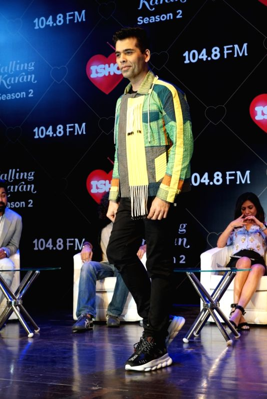 "Filmmaker Karan Johar at the launch of his upcoming radio show ""Calling Karan Season 2"" in Mumbai on Aug 6, 2018. - Karan Johar"