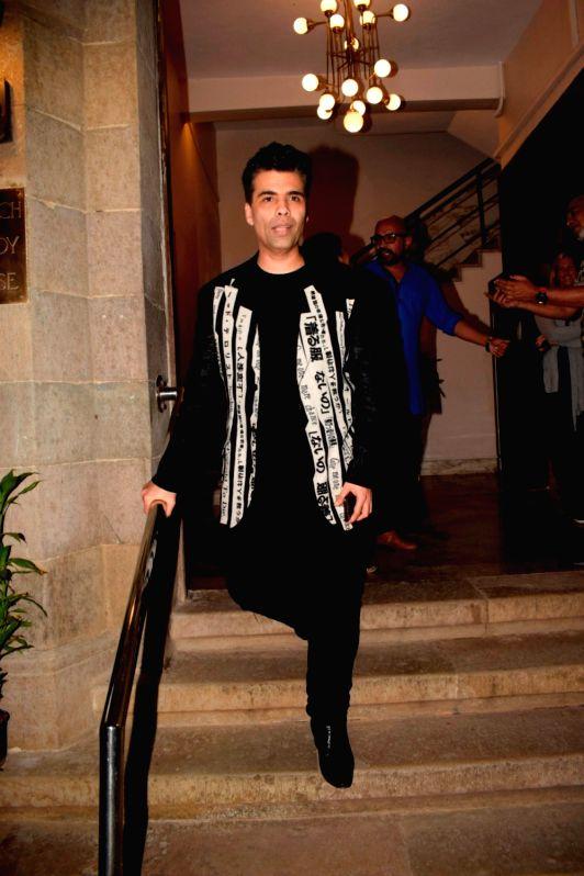 "Filmmaker Karan Johar at the pre-release party of upcoming film ""Karwaan"" in Mumbai on July 26, 2018. - Karan Johar"