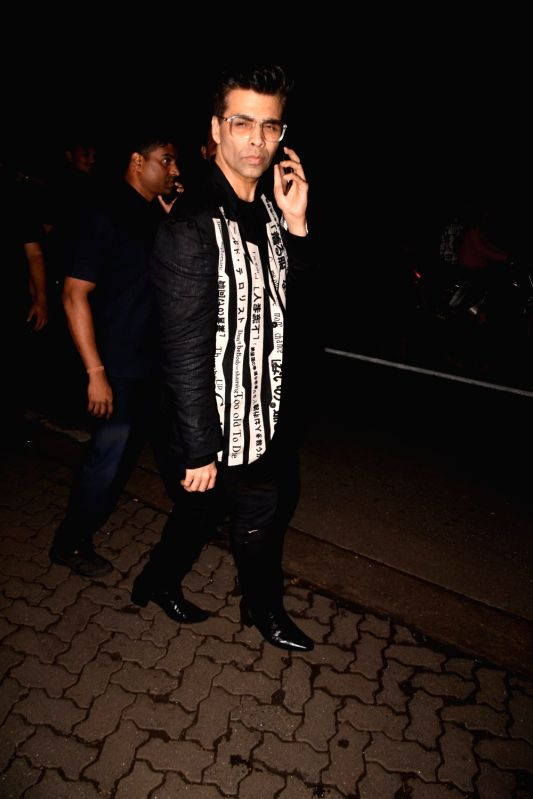 Filmmaker Karan Johar at the producer Dinesh Vijan birthday celebration in Mumbai on July 26, 2018. - Karan Johar