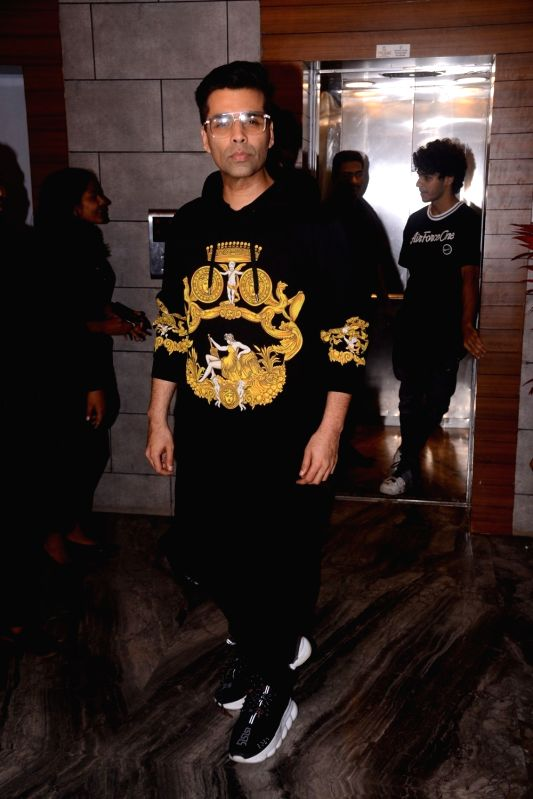 "Filmmaker Karan Johar during the success party of his film ""Dhadak"" in Mumbai on Aug 9, 2018. - Karan Johar"