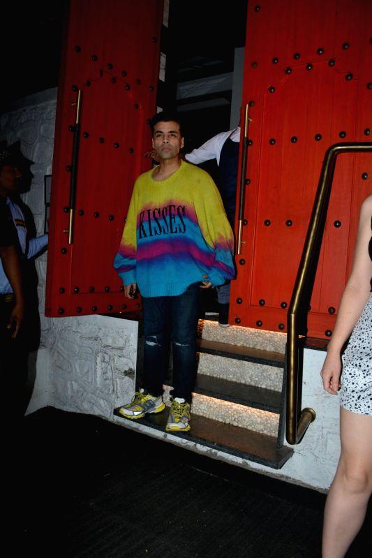 Filmmaker Karan Johar seen at a Mumbai restaurant on Feb 10, 2019. - Karan Johar