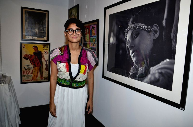 Filmmaker Kiran Rao during the Osians preview exhibition of vintage film items in Mumbai, on Aug 22, 2014. - Kiran Rao