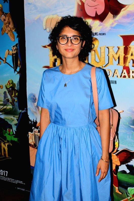 Filmmaker Kiran Rao during the screening of film Hanuman Da Damdaar in Mumbai on June 1, 2017. - Kiran Rao