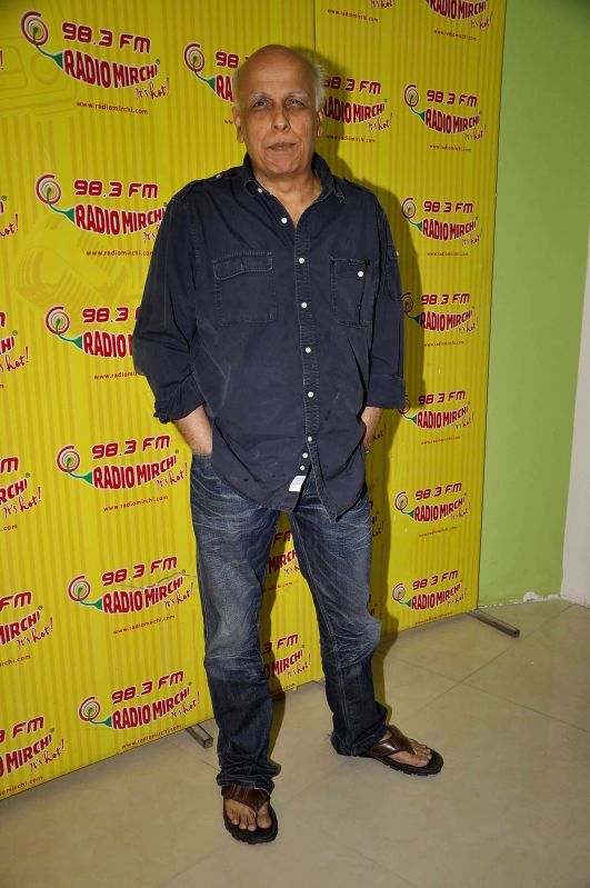 Filmmaker Mahesh Bhatt during the meet and greet session on Radio Mirchi to promote his upcoming film City Lights in Mumbai, on May 14, 2014. - Mahesh Bhatt