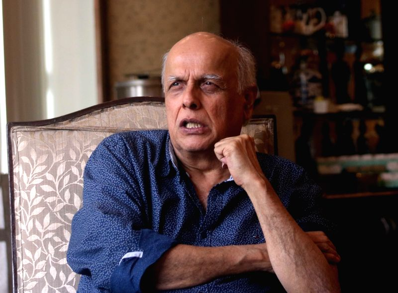 Filmmaker Mahesh Bhatt interacts with journalists in New Delhi, on Aug 9, 2016. - Mahesh Bhatt