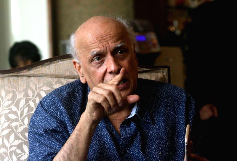 Filmmaker Mahesh Bhatt interacts with journalists in New Delhi, on Aug 9, 2016. - Mahesh Bhatt