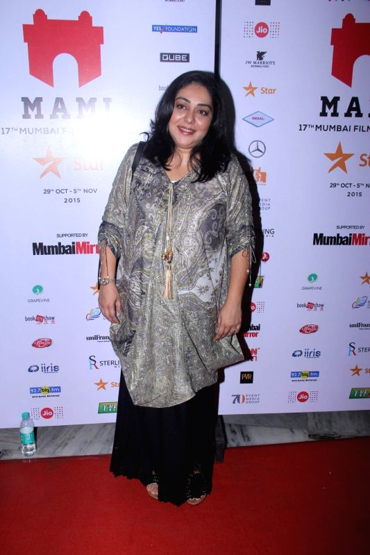 Filmmaker Meghna Gulzar during the premiere of film Aligarh at Jio MAMI 17th Mumbai Film Festival in Mumbai, on Oct 30, 2015. - Meghna Gulzar