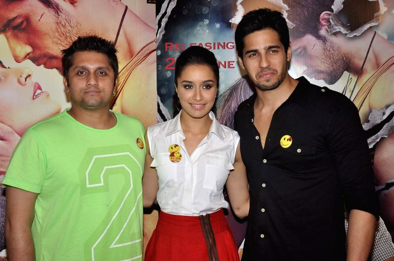 Filmmaker Mohit Suri, actor Shraddha Kapoor and Sidharth Malhotra during a media interaction of film Ek Villian in Mumbai June 16, 2014. - Mohit Suri, Shraddha Kapoor and Sidharth Malhotra