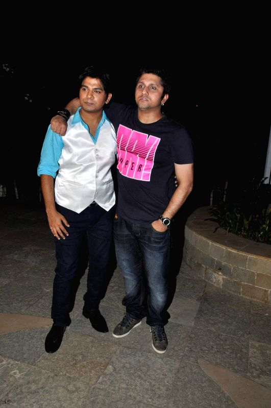 Filmmaker Mohit Suri and singer Ankit Tiwari during the press conference for the success of film Ek Villian at Hotel Sun N Sand in Mumbai, on July 1, 2014. - Mohit Suri