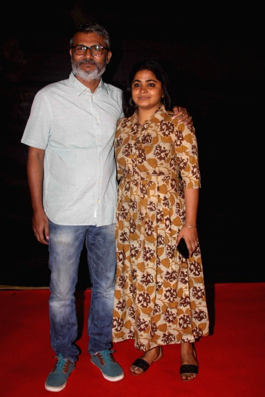 Filmmaker Nitesh Tiwari along with wife Ashwiny Iyer Tiwari during the Dada Saheb Film Foundation Awards 2017 in Mumbai on May 7, 2017. - Nitesh Tiwari