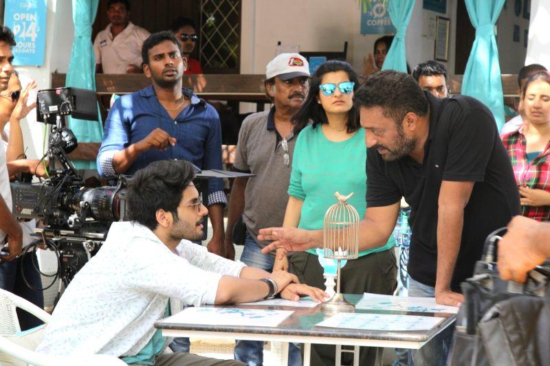 "Filmmaker Prakash Raj and actor Ali Fazal during shooting of their upcoming film ""Tadka"" in Anjuna village of Goa on May 25, 2016. - Prakash Raj"