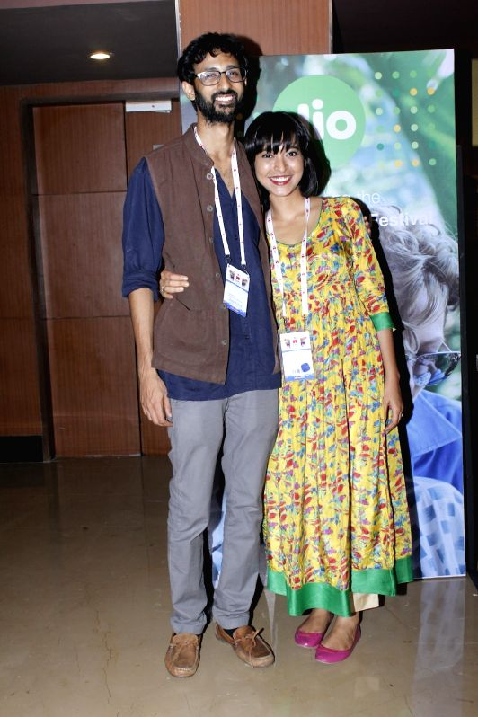 Filmmaker Raam Reddy and actress Sayani Gupta during the premier of Kannada feature film Thithi, at MAMI Festival, in Mumbai, on Oct 31, 2015. - Raam Reddy and Sayani Gupta
