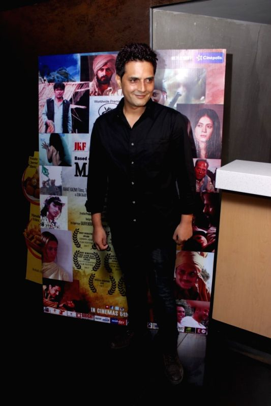 Filmmaker Rahat Kazmi during the screening of film Mantostaan in Mumbai on April 20, 2017. - Rahat Kazmi