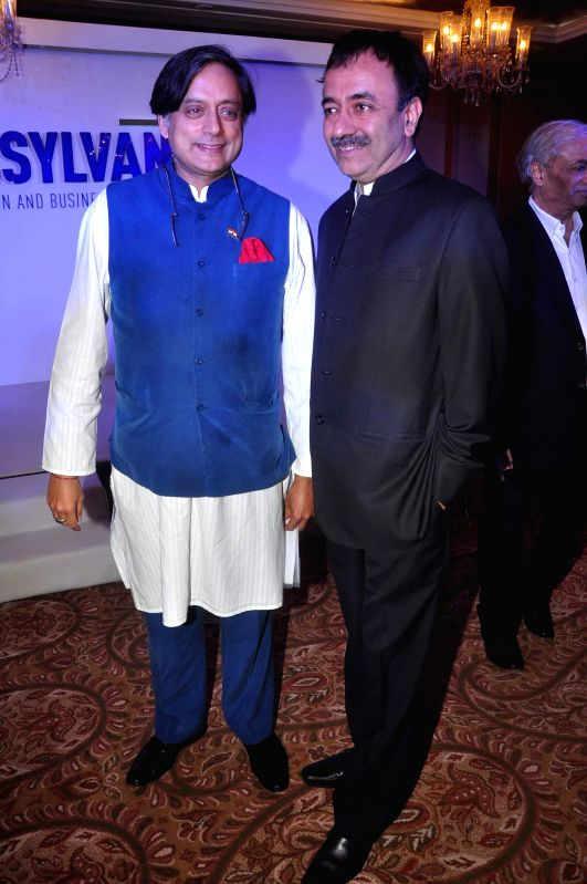 Filmmaker Rajkumar Hirani and Congress leader Shashi Tharoor during launch of Penn Hub - India, the first global education initiative partnership with Symbiosis and State of Pennsylvania, USA in ... - Rajkumar Hirani and Shashi Tharoor