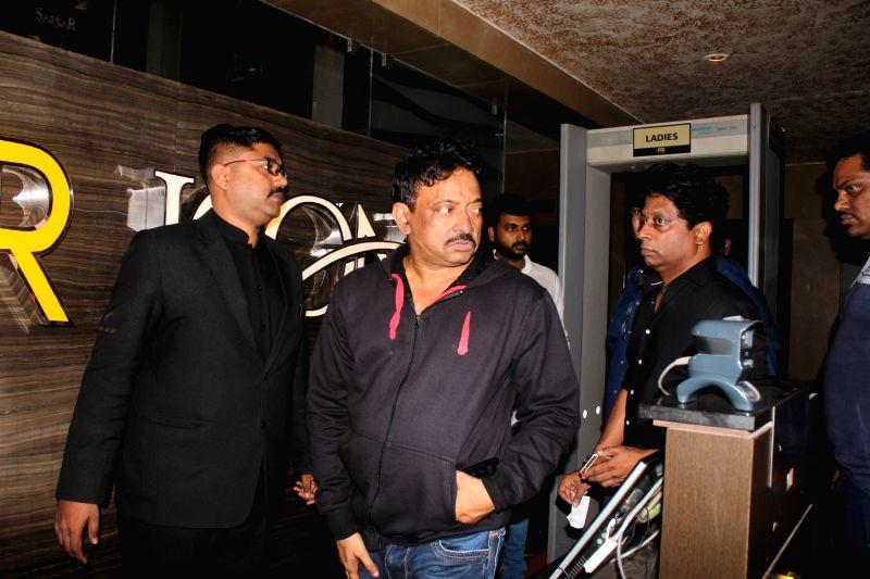 Filmmaker Ram Gopal Varma during the screening of film Sarkar 3 in Mumbai on May 11, 2017. - Ram Gopal Varma