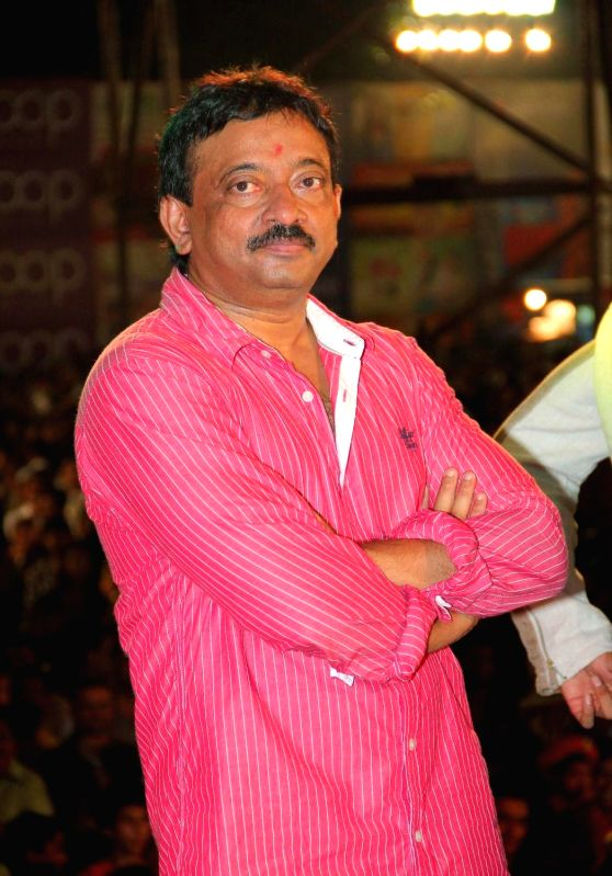 : Filmmaker Ram Gopal Verma at Navratri celebrations to promote his upcoming film Satya 2 in Mumbai on 12th Oct 2013. ( Photo: IANS).