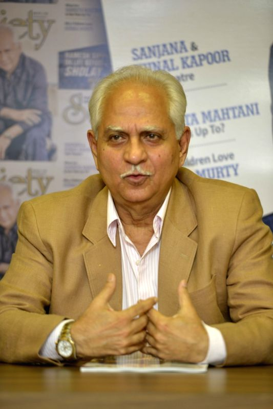 Filmmaker Ramesh Sippy during the unveiling of the May 2017 issue of Society magazine in Mumbai, on May 16, 2017. - Ramesh Sippy