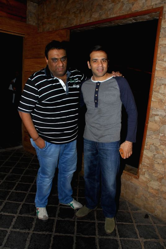 Filmmaker`s Farhad and Sajid during the success party of Marathi film Poshter Boyz in Mumbai, on Aug 19, 2014.