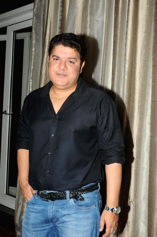 filmmaker Sajid Khan during the success party of film Humshakals organised by Fox Star Studios and filmmaker Vashu Bhagnani in Mumbai on June 24, 2014. - Sajid Khan