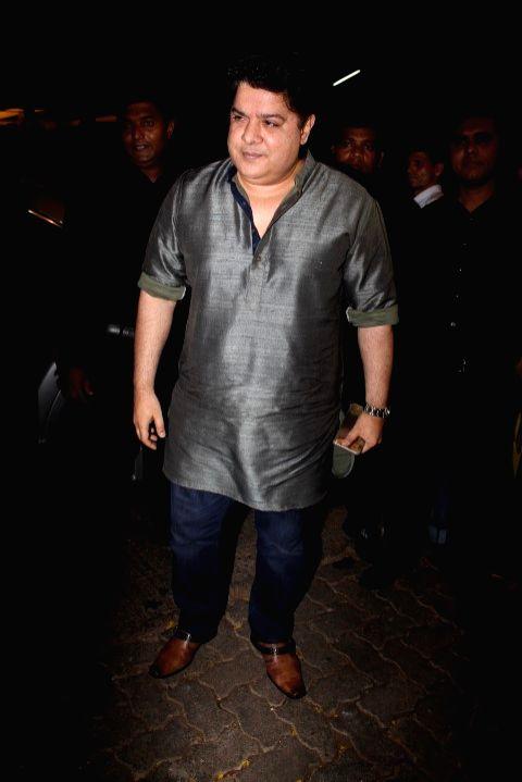 Filmmaker Sajid Khan during the success party of film Baaghi in Mumbai on May 12, 2016. - Sajid Khan