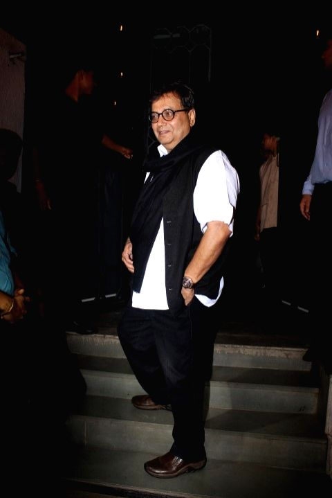 Filmmaker Shubhash Ghai during the success party of film Baaghi in Mumbai on May 12, 2016. - Shubhash Ghai