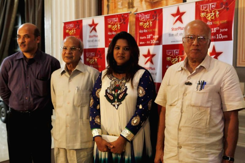 Filmmaker Sooraj Barjatya and his sister Kavita (co-producer) launching a new serial ` Pyar Ka Dard Hai Meetha Meetha Pyaara Pyaara` on Star Plus.