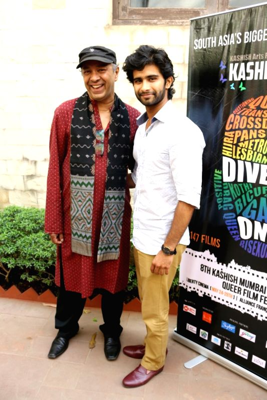 Filmmaker Sridhar Rangayan and actor Siddharth Menon during the trailer launch of Kashish Mumbai International Queer Film Festival, South Asia's largest LGBTQ film festival in Mumbai on May ... - Sridhar Rangayan and Siddharth Menon