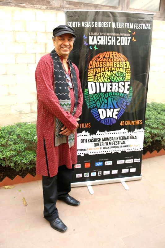 Filmmaker Sridhar Rangayan during the trailer launch of Kashish Mumbai International Queer Film Festival, South Asia's largest LGBTQ film festival in Mumbai on May 17, 2017. - Sridhar Rangayan