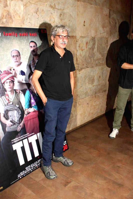 Filmmaker Sriram Raghavan during a special screening of film Titli in Mumbai, on Oct 28, 2015. - Sriram Raghavan