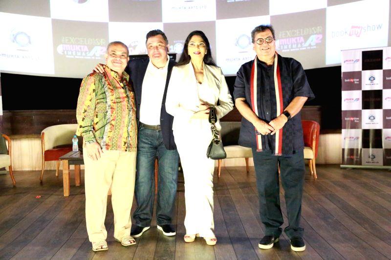 Filmmaker Subhash Ghai, actors Simi Garewal and Rishi Kapoor during the re-premiere of film Karz in Mumbai on April 23, 2017. - Subhash Ghai, Simi Garewal and Rishi Kapoor