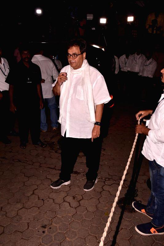 Shashi Kapoor's condolence meet - Subhash Ghai and Shashi Kapoor