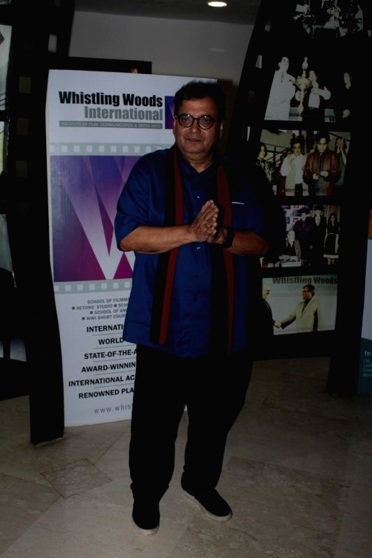 Filmmaker Subhash Ghai at Whistling Woods International Institute in Mumbai on April 19, 2017. - Subhash Ghai