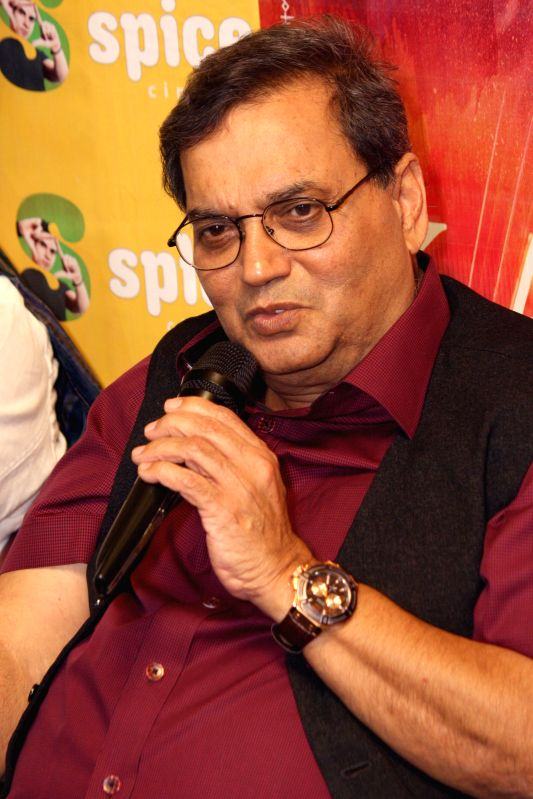 Filmmaker Subhash Ghai during a press conference to promote his upcoming film 'Kaanchi' in Noida on April 18, 2014. - Subhash Ghai