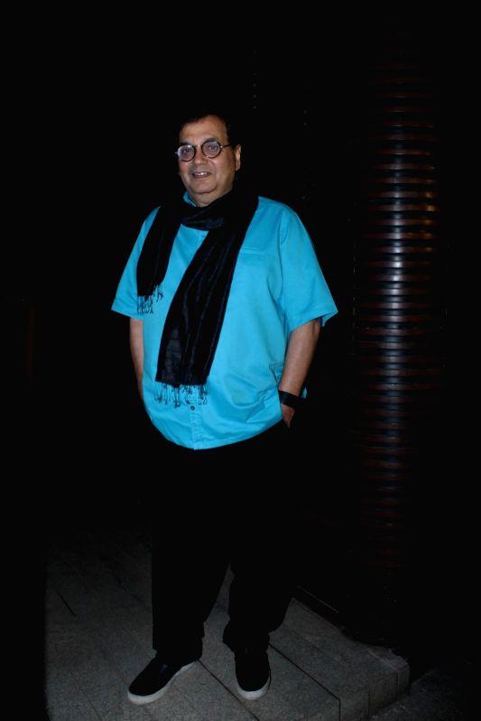 Filmmaker Subhash Ghai during Priyanka Chopra's party in Mumbai on April 26, 2017. - Subhash Ghai and Priyanka Chopra