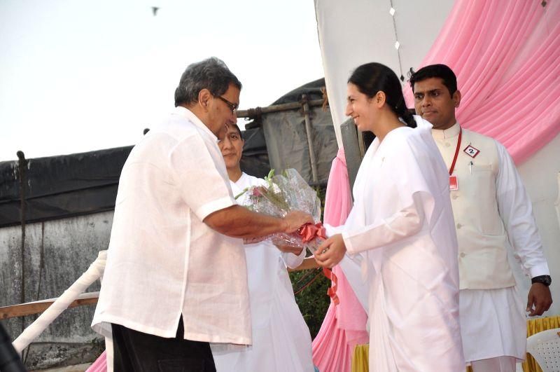 Filmmaker Subhash Ghai during the Brahma Kumaris decennial celebration in Mumbai, on May 4, 2014. - Subhash Ghai