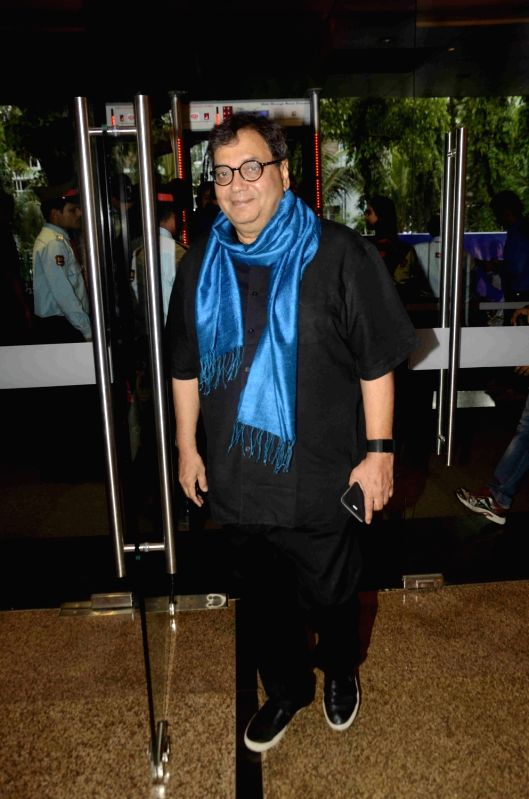 Filmmaker Subhash Ghai during the preview of play Chakravyuh in Mumbai, on June 11, 2017. - Subhash Ghai