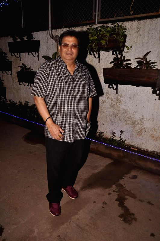 Filmmaker Subhash Ghai during the screening of Punjabi film `Double Di Trouble` in Mumbai, on Aug 29, 2014.