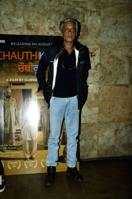 Filmmaker Sudhir Mishra during the special screening of Punjabi film Chauthi Koot in Mumbai on Aug 1, 2016. - Sudhir Mishra