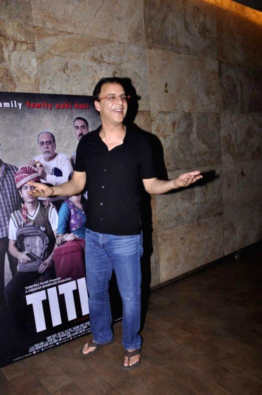 Filmmaker Vidhu Vinod Chopra during the screening of film Titli, in Mumbai, on Oct 27, 2015. - Vidhu Vinod Chopra