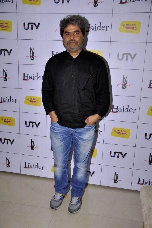 Filmmaker Vishal Bhardwaj during the music premier of upcoming film Haider at Radio Mirchi studio in Mumbai, on Aug. 20, 2014. - Vishal Bhardwaj