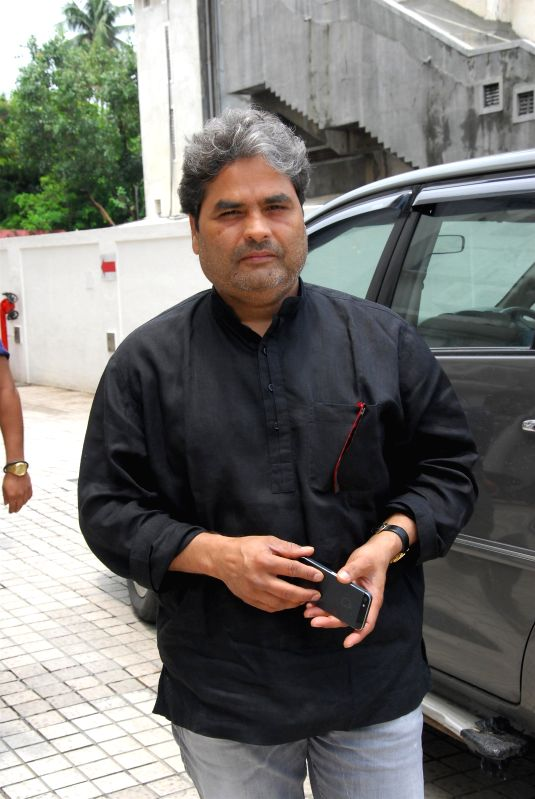 Filmmaker Vishal Bhardwaj during the trailer launch of upcoming film Haider at PVR Cinemas in Mumbai on July 7, 2014. - Vishal Bhardwaj
