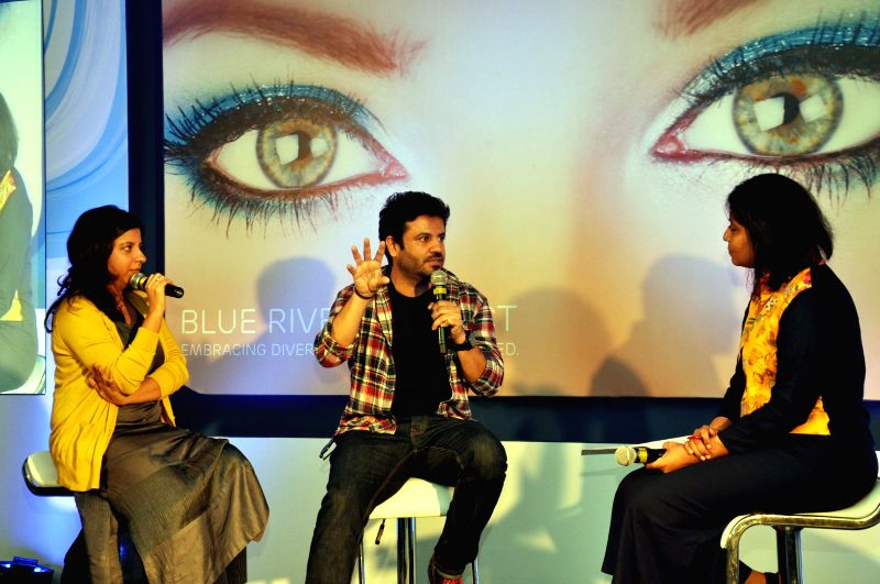 Filmmaker Zoya Akhtar and producer Vikas Bahl during a programme in Blue River Project programme in Gurgaon on Oct 27, 2015.