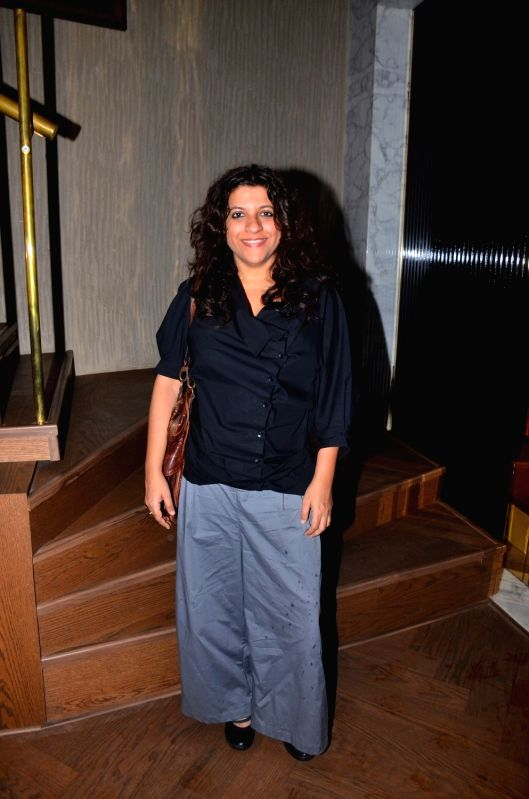 Filmmaker Zoya Akhtar spotted outside the new restaurant designed by Gauri Khan, in Mumbai on June 12, 2017. - Zoya Akhtar and Khan