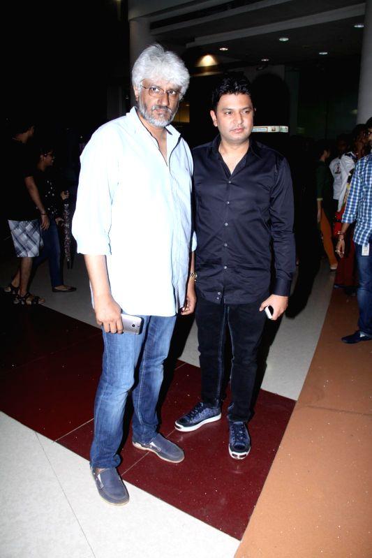 Filmmakers Bhushan Kumar and Vikram Bhatt during the music launch of film Creature 3D in Mumbai, on August 12, 2014. - Bhushan Kumar and Vikram Bhatt