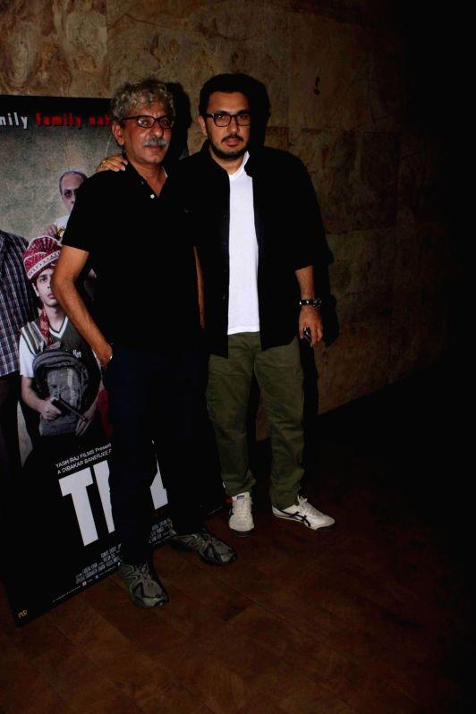 Filmmakers Dinesh Vijan and Sriram Raghavan during a special screening of film Titli in Mumbai, on Oct 28, 2015. - Dinesh Vijan and Sriram Raghavan