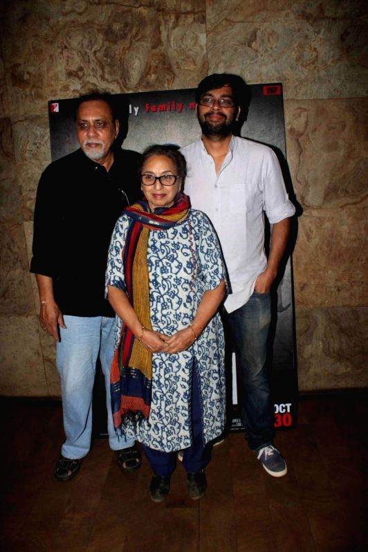 Filmmakers Lalit Behl and Kanu Behl during a special screening of film Titli in Mumbai, on Oct 28, 2015. - Lalit Behl and Kanu Behl